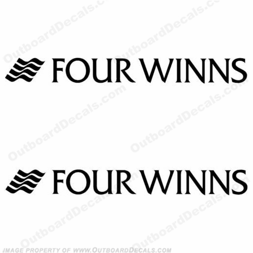 Four Winns Boat Logo Decals (Set of 2) - Any Color - Style 2