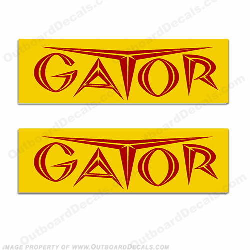 Gator Trailer Decals (Set of 2) - Style 1