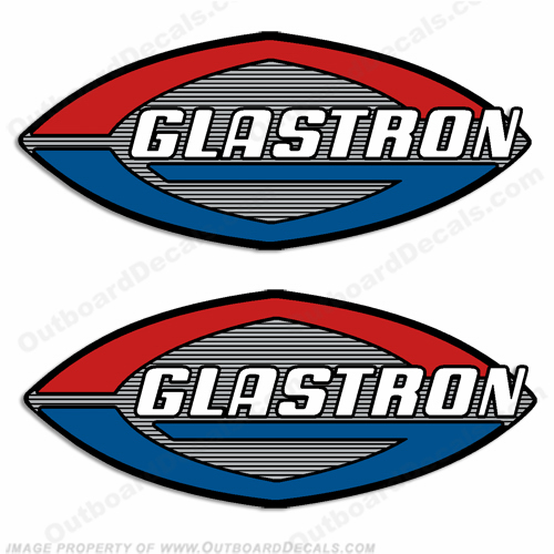 Glastron Boat Decals (Set of 2) - Silver Accents