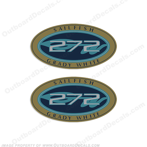 Grady White Sailfish 272 Logo Decals (Set of 2)
