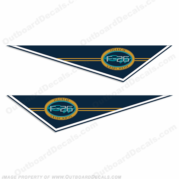 Grady White F-26 Tigercat Pendant Decals