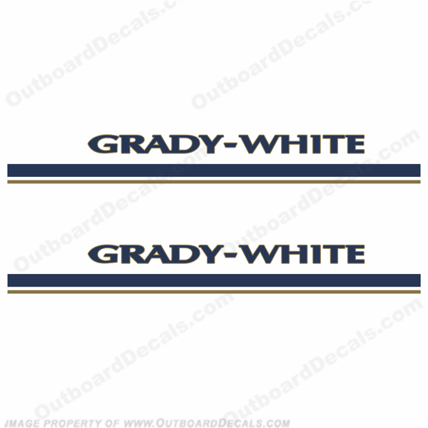 Grady White Boat Decals and Stripes