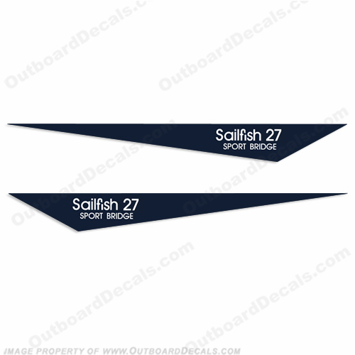 Grady-White Sailfish 27 Decals - B-GW-SAILF-27