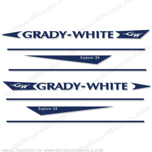 Grady White Explorer 24 Decal Kit  Gradywhite, 246, 24, twenty four,