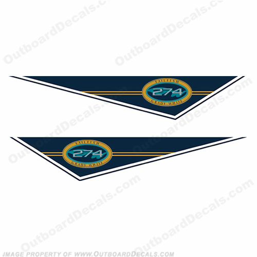 Grady White Sailfish 274 Pendant Decals