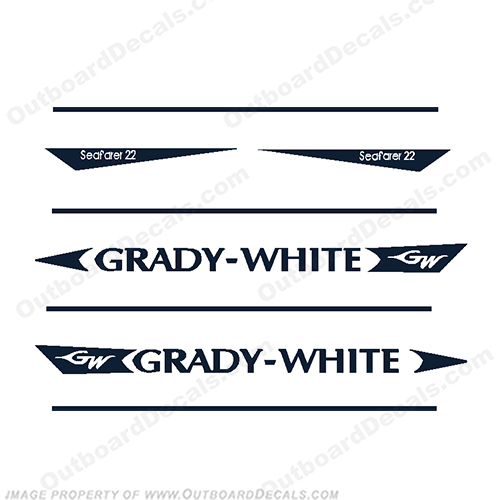 Grady White Seafarer 22 Decal Kit   Gradywhite, 22, 22, twenty two, Sea, Farer