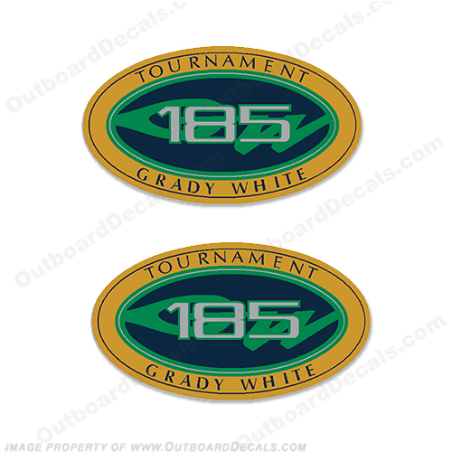 Grady White Tournament 185 Logo Decals (Set of 2)