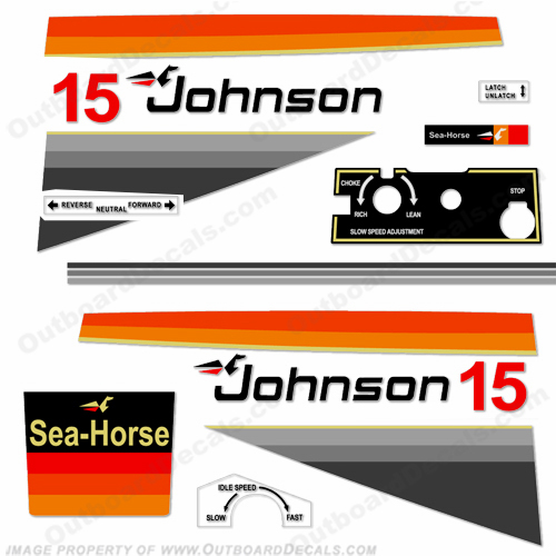 Johnson 1978 15hp Decals