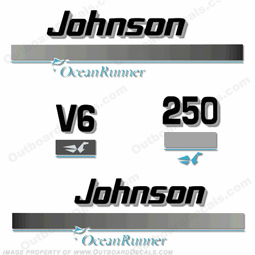 Johnson 250hp OceanRunner Decals ocean runner, ocean-runner