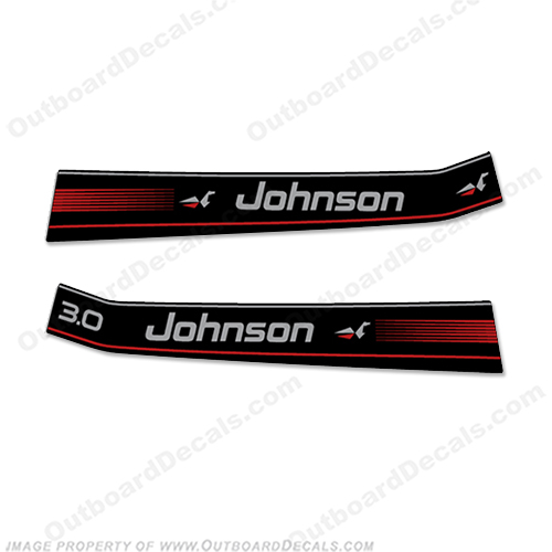 Johnson 3 hp Decal Kit (1996) 3hp, 3-hp, 3 horse, 3 horsepower, 3 horse power, s horse-power