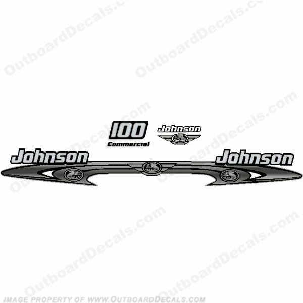 Johnson 100hp Commercial Decals - Wrap Around