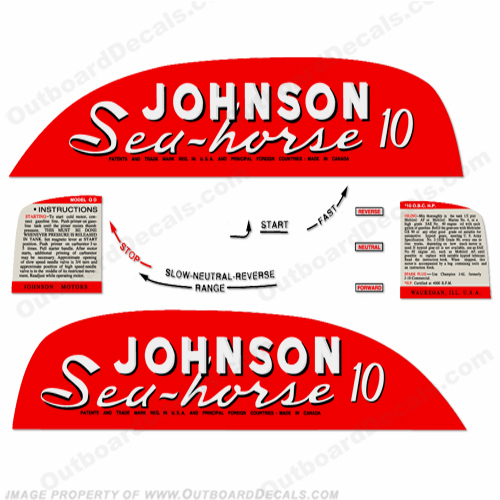 Johnson 1951 10hp Decals
