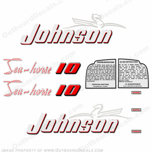 Johnson 1953 10hp Decals