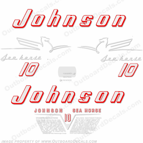Johnson 1954 10hp Decals