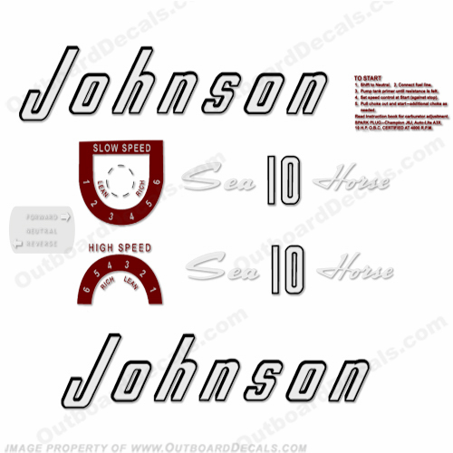 Johnson 1957 10hp Decals
