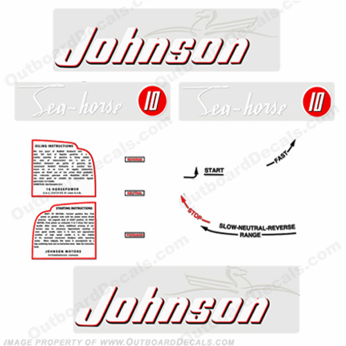 Johnson 1952 10hp Decals - Style A