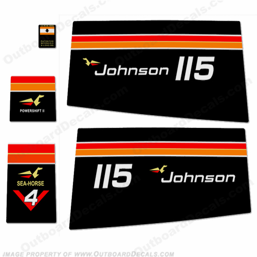 Johnson 1975 115hp Decals