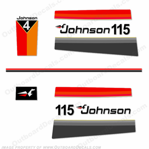 Johnson 1977 115hp Decals