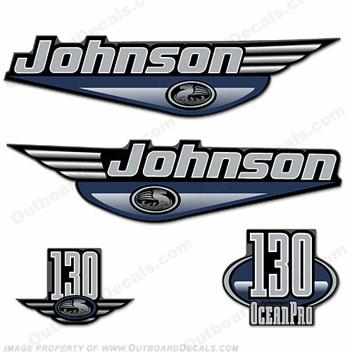 Johnson 130 hp Decals Ocean Pro (Pick Color!) oceanpro, ocean-pro, ocean pro, johnson ocean pro, johnson ocean-pro, johnson oceanpro, 130 hp, 130-hp
