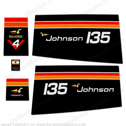 Johnson 1975 135hp Decals