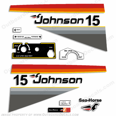 Johnson 1977 15hp Decals