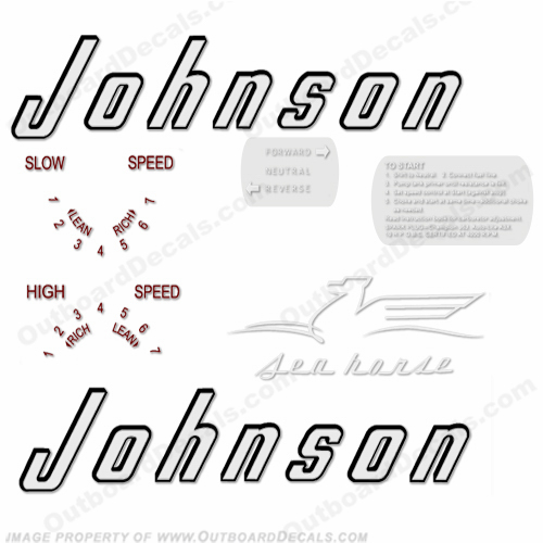 Johnson 1956 15hp Decals