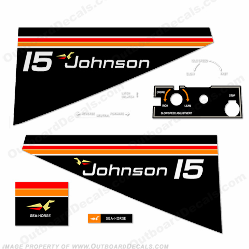 Johnson 1975 15hp Decals