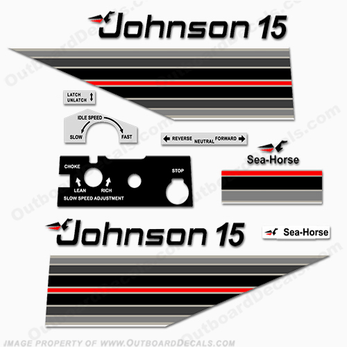 Johnson 1982 15hp Decals