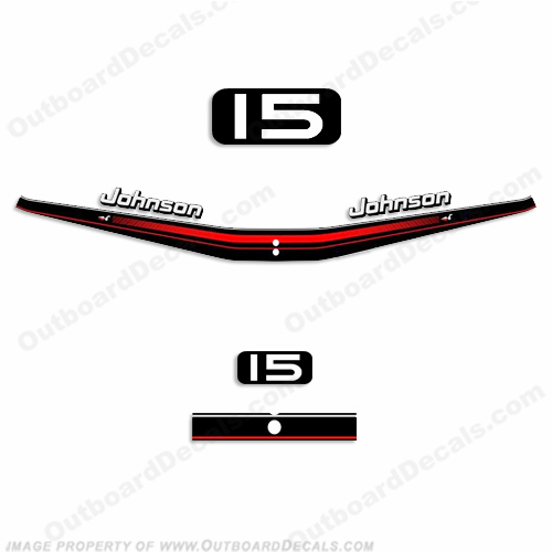 Johnson 15hp Decal Kit 1995 - 1996