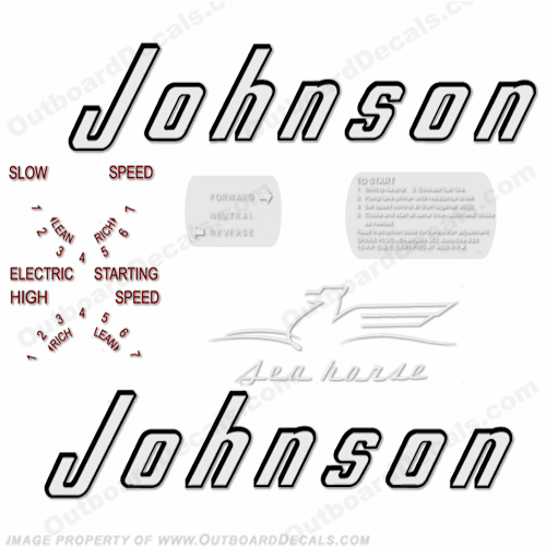Johnson 1956 15hp - Electric Decals