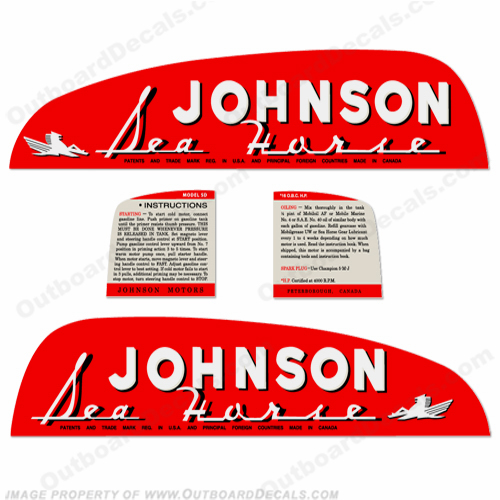 Johnson 1949 16hp Decals
