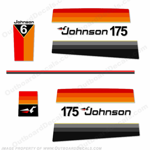 Johnson 1977 175hp Decals