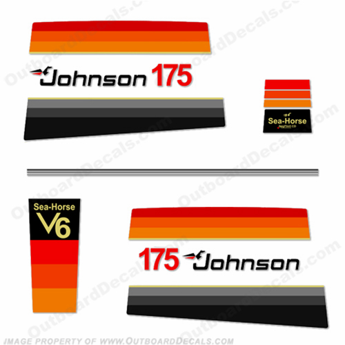 Johnson 1978 175hp Decals