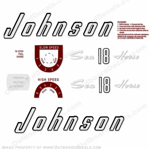 Johnson 1957 18hp Decals