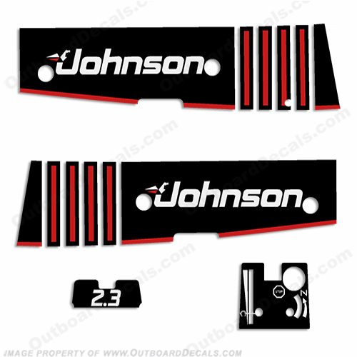 Johnson 2.3hp Decals - 1990s
