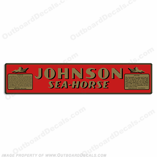 Johnson 1940 2.5hp (HA-15) Decals