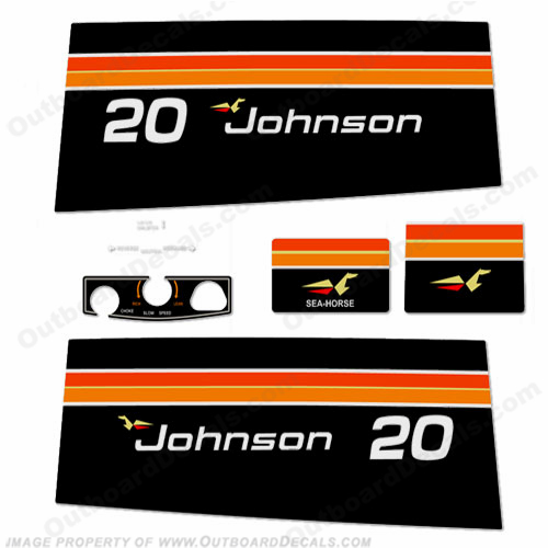 Johnson 1975 20hp Decals