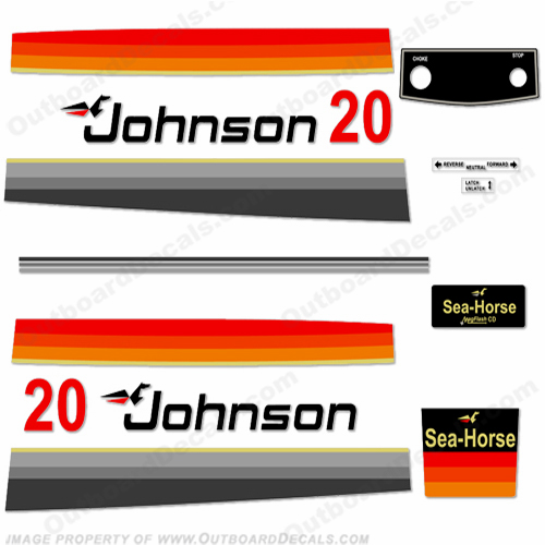 Johnson 1978 20hp Decals