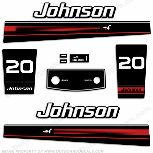 Johnson 20hp Decals - 1995 - 1996