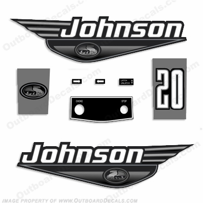 Johnson 20hp Decals - 1999 - 2000