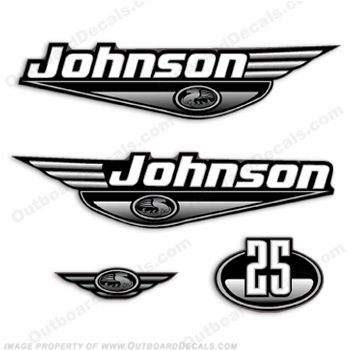 Johnson 25hp Decals - Black