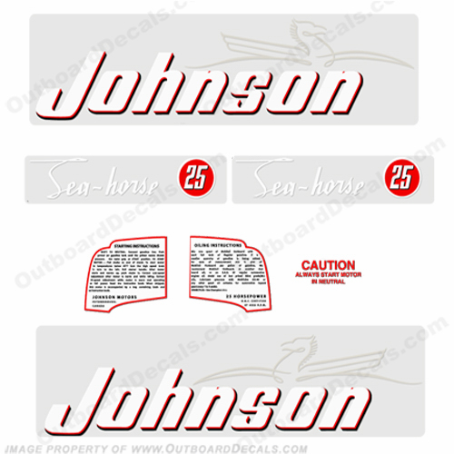 Johnson 1952 25hp Decals - Style A