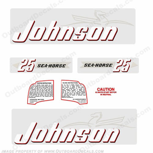 Johnson 1952 25hp Decals - Style B
