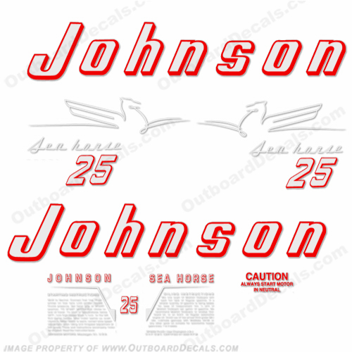 Johnson 1954 25hp Decals