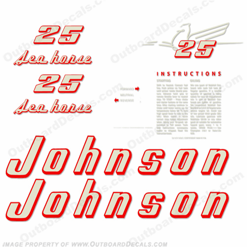 Johnson 1955 25hp Decals