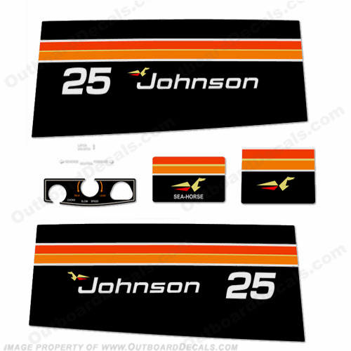 Johnson 1975 25hp Decals