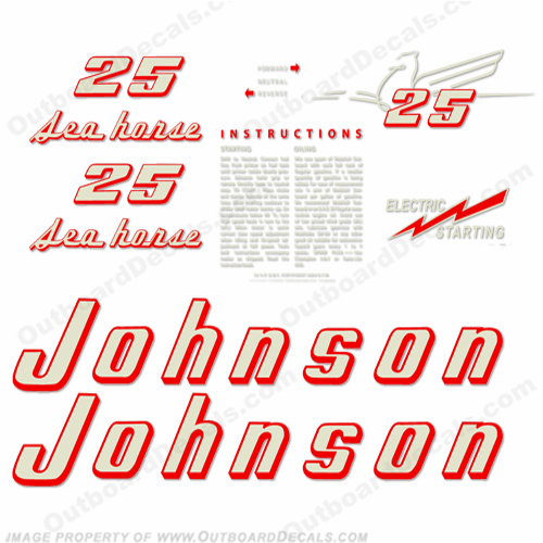 Johnson 1955 25hp - Electric Decals