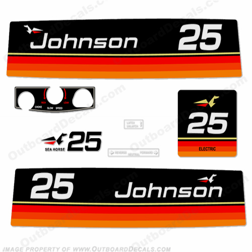 Johnson 1974 25hp - Electric Decals