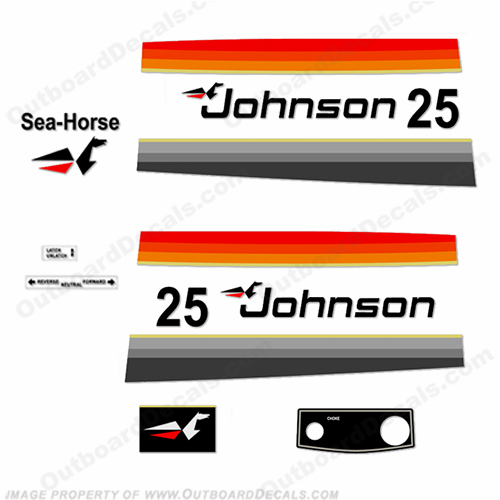 Johnson 1977 25hp - Electric Decals