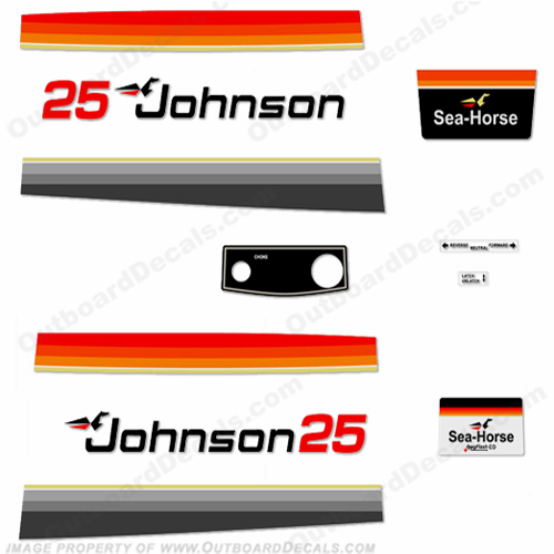 Johnson 1979 25hp Electric Decals